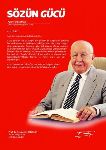 Akıl nedir?... Prof. Dr. Necmettin Erbakan
