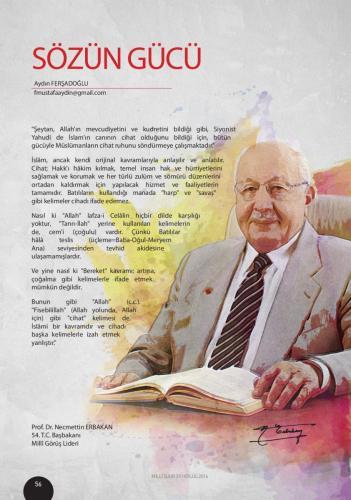 İslam ancak kendi orijinal kavramları ile anlaşılır... Prof. Dr. Necmettin Erbakan
