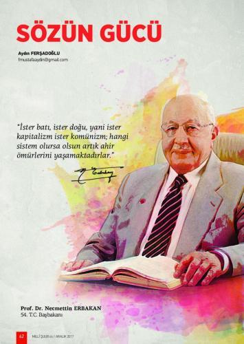 İster Batı, ister Doğu, yani ister Kapitalizm... Prof. Dr. Necmettin Erbakan