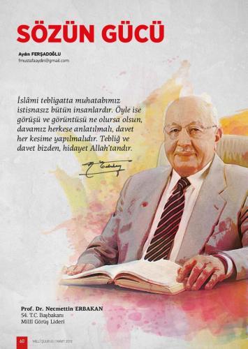İslami tebligatta muhatabımız... Prof. Dr. Necmettin Erbakan