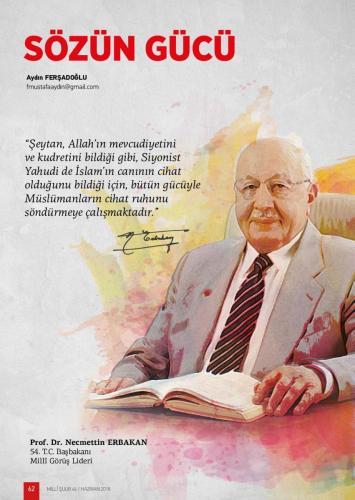 Şeytan, Allah'ın mevcudiyetini ve kudretini bildiği gibi, Siyonist ... Prof. Dr. Necmettin Erbakan