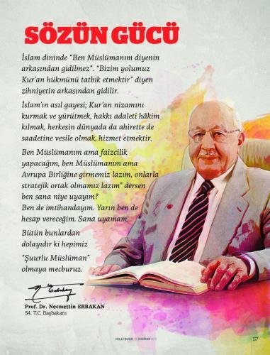 """İslam Dininde """"Ben Müslümanım diyenin arkasından gidilmez.""""... Prof. Dr. Necmettin Erbakan"""