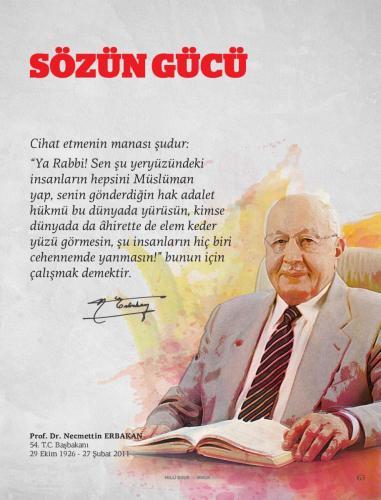 Cihat etmenin manası şudur: ... Prof. Dr. Necmettin Erbakan