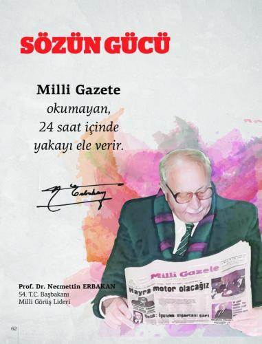 Milli Gazete okumayan,... Prof. Dr. Necmettin Erbakan